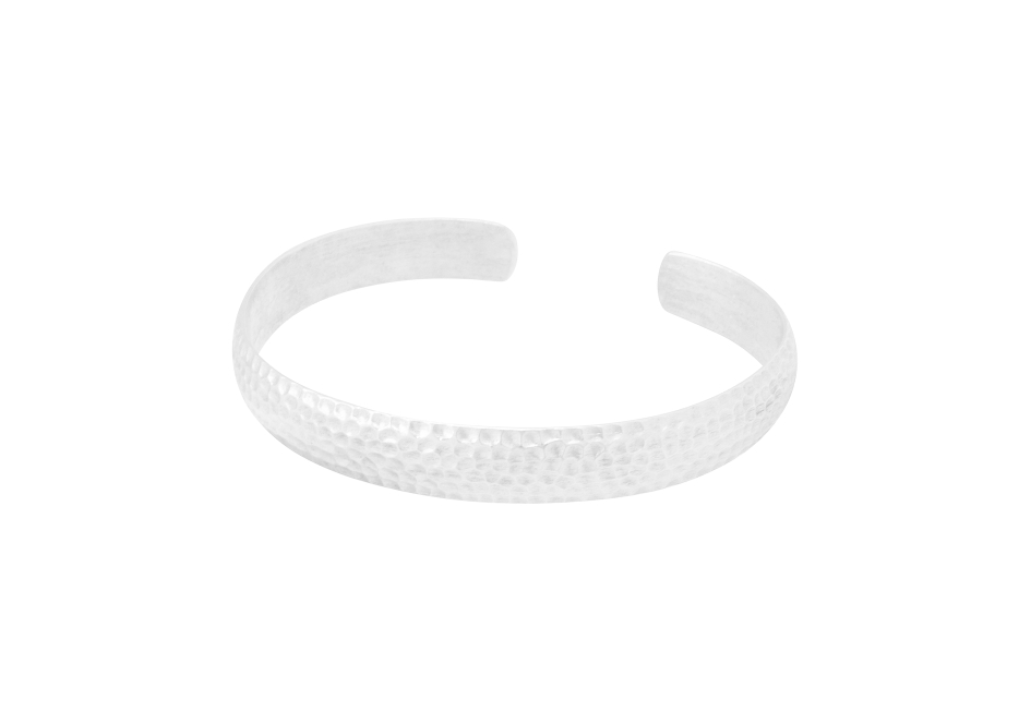Hammered silver cuff bracelet by Hill to Street