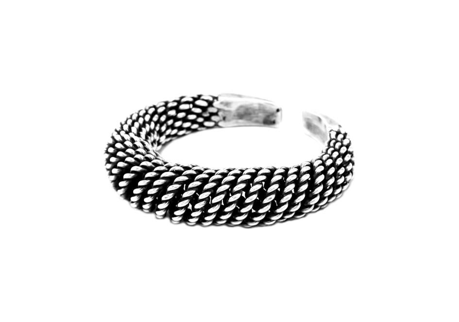 Hmong silver coil bangle tribal jewelry from Hill to Street