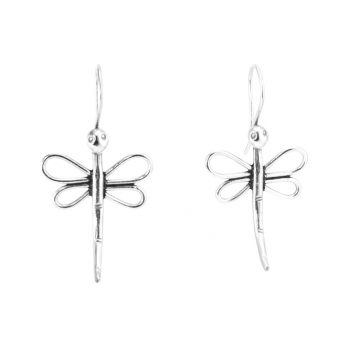 Silver dragonfly earrings by Hill to Street