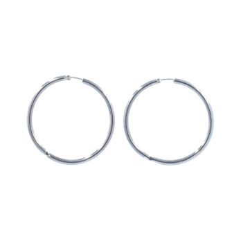 Classic large thick sterling silver hoops by Hill to Street