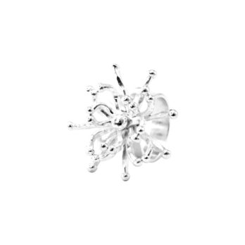 Dandelion flower silver ring by Hill to Street