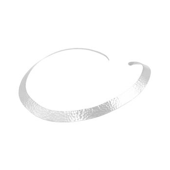 Hammered silver choker by Hill to Street