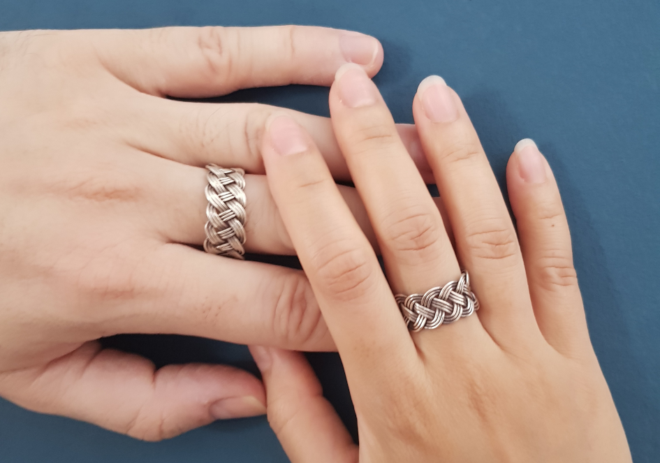 Men and women adjustable pure silver rings by Hill to Street