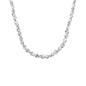 Unique silver beaded knot necklace by Hill to Street