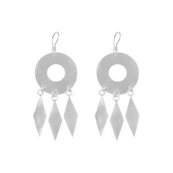 Amonute silver drop earrings By Hill to Street
