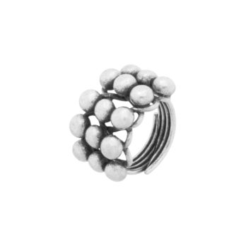 Handmade multi silver ball ring by Hill to Street
