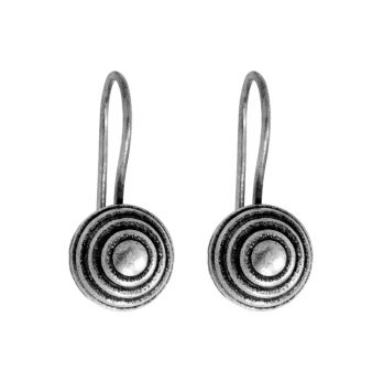 Minimalist silver ball earrings from Hill to Street