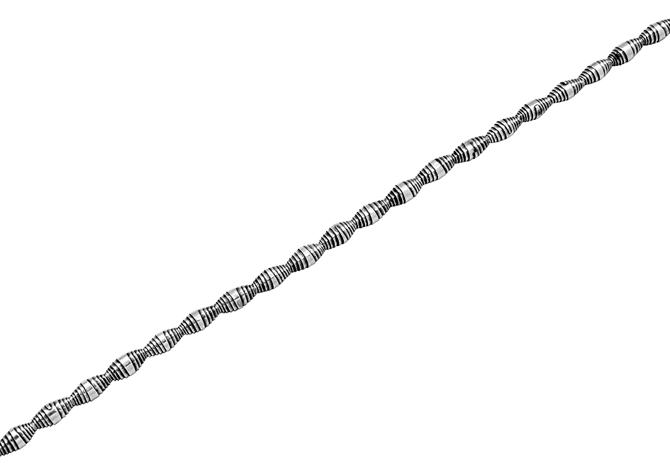 Rolled up silver beads anklet from Hill to Street