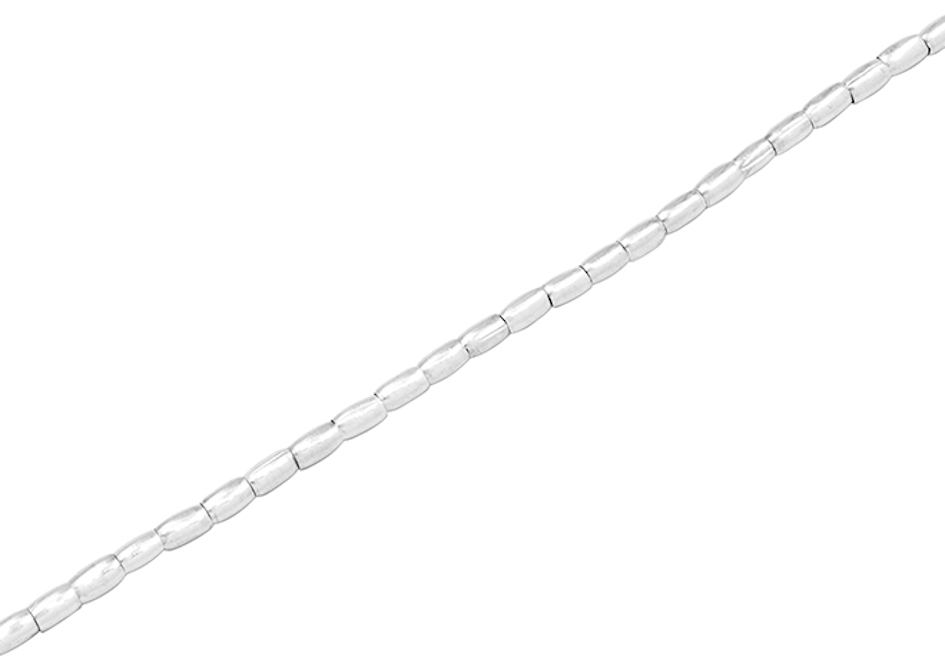 Silver rice beads anklet from Hill to Street