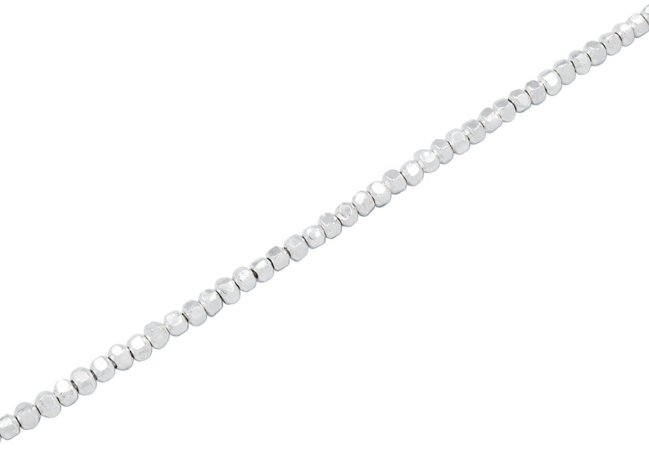 Square silver beads anklet from Hill to Street