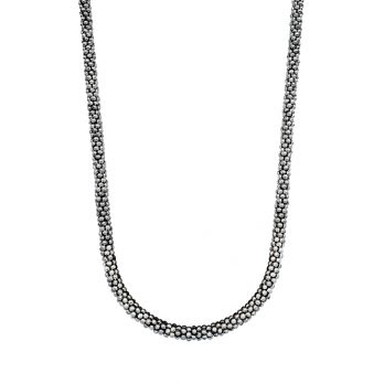 Silver ball beads necklace