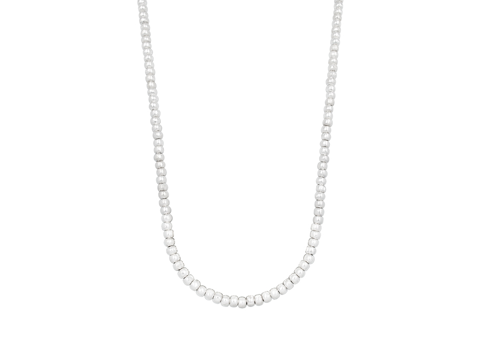 Silver beaded necklace by Hill to Street