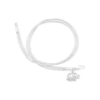 Double twist silver beaded bracelet
