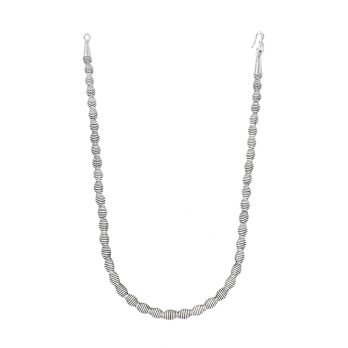 Roll up silver beaded necklace from Hill to Street
