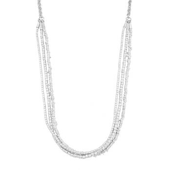 Long silver 3-in-1 necklace by Hill to Street