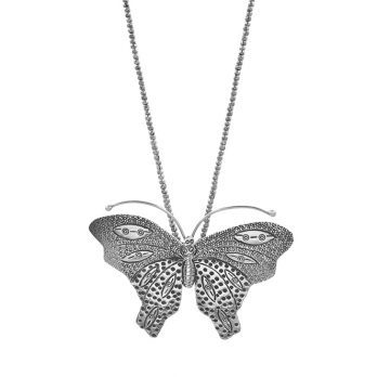 Butterfly pendant silver necklace by Hill to Street