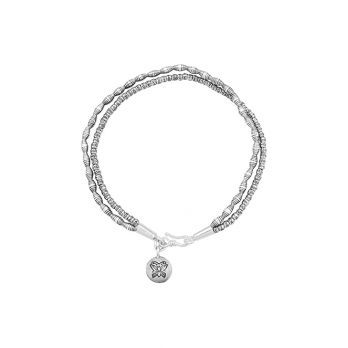 Double strand silver anklet by Hill to Street