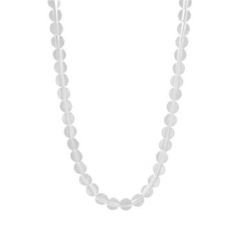 Flat beads silver necklace from Hill to Street