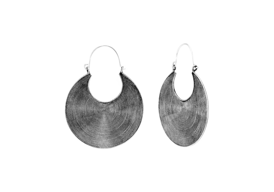 Tribal disc statement earrings by Hill to Street